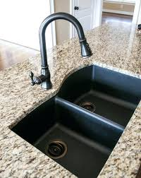 black granite kitchen sinks photo 6 of black granite composite sink with oil rubbed bronze faucet