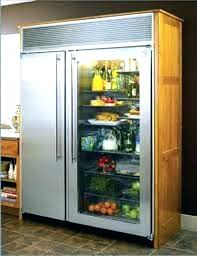 refrigerator sub zero s with glass door sub zero refrigerator b79