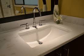 undermount bathroom sink. Rectangular Sinks For Bathroom : Gorgeous Interior Design Using White Undermount Sink Combine T