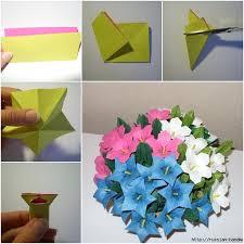 Paper Origami Flower Bouquet Diy Beautiful Paper Origami Lily Flower Bouquet Fab Art Diy Tutorials