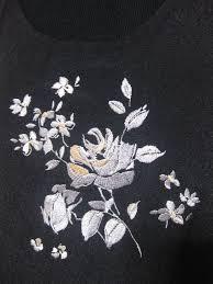 日本製上質大人のかなりお洒落なロング丈ジャンパースカート 黒花刺繍 Mlフリー
