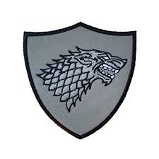 Game Of Thrones Stark House Crest Wooden Plaque Game of Thrones House Stark Crest Shield Patch House stark and 6