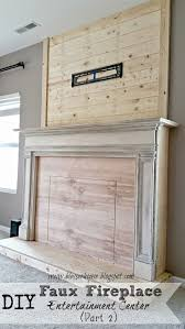 diy faux fireplace entertainment center part two