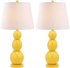 Hyde Yellow Three Sphere Glass Table Lamp