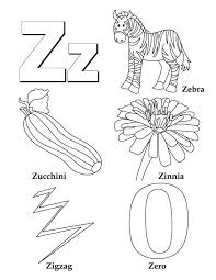 Small Picture My A to Z Coloring Book Letter Z coloring page Preschool