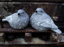 bird statues concrete birds birdbath