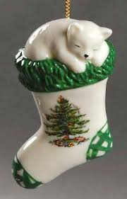 Spode Spode Christmas Tree Miscellaneous Ornaments Kitten In Stocking -  Boxed