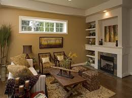 choosing rustic living room. Appealing Rustic Living Room Decoration Ideas With Brown Paint Color And Wall Shelves Choosing O