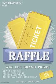 Raffle Ticket Poster Template Raffle Giveaway Ticket Poster Flyer Template Postermywall