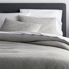 Lindstrom Grey Duvet Covers and Pillow Shams   Crate and Barrel &  Adamdwight.com