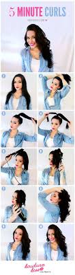 5 Minute Hairstyles For Girls 5 Minute Curls Style Estate Instructions Http Blog