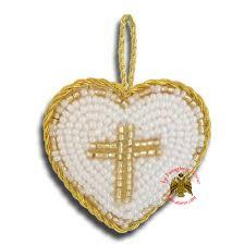 orthodox filakto amulet pendant white heart with gold cross beads orthodox amulets nioras com byzantine orthodox art greek traditional s