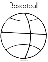 Small Picture Basketball Coloring Pages Twisty Noodle