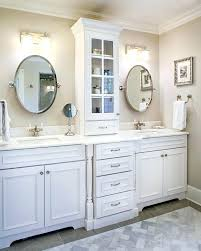 bathroom double vanity with center tower unique best ideas only countertop storage