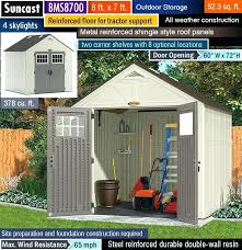 suncast outdoor storage sheds best outdoor storage shed best garden shed best resin shed suncast bms4700