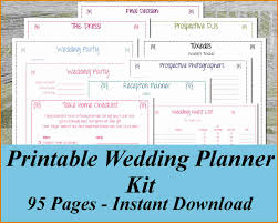 4 Free Wedding Planner Book Expense Report
