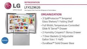 lg refrigerator lfxs29766s. lg french door refrigerator lfxs29626s at www.appliancesconnection.com lg lfxs29766s o