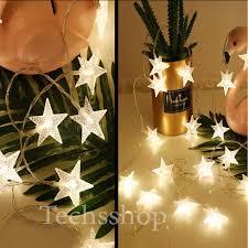 Đèn led trang trí hình ngôi sao dây 6 mét màu trắng - Đèn led dây trang