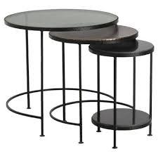 black round nesting tables fine round nesting table a zoom black round nesting coffee tables