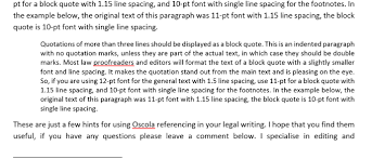 Oscola Back To Basics Quotations Liz Brown Editing
