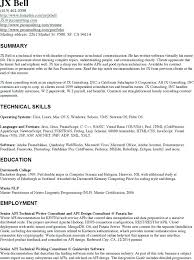 Awesome Collection Of Technical Writer Resume Objective Cool Write