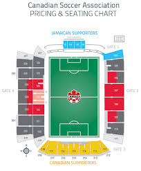 Bmo Field Detailed Seating Chart 1194 Canada Soccer