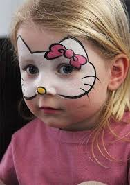 picture of o kitty face paint and some pink clothes will makeup a cool costume
