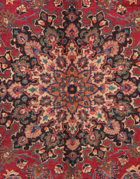 hand knotted red traditional rug