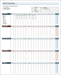 Weekly Staff Schedule Template