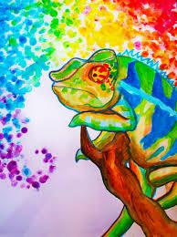 ART neon chameleon - paintmyworldrainbow  http://paintmyworldrainbow.deviantart.com/art