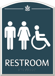 Handicap Bathroom Signs Delectable Contour Bathroom Signs