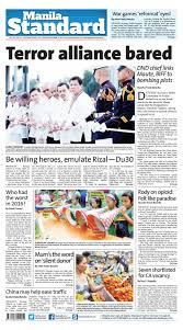 Manila Standard 2016 December 31 Saturday by Manila Standard.