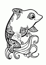 Pretty Coloring Pages Beautiful Dolphin Coloring Page For Kids