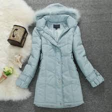 winter coat winter jacket hooded sky blue long outerwear down jacket wheretoget