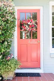 Coral Front Door Summer Door Decor Ideas Brit Co