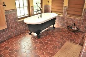 saltillo tiles home depot freestanding bathtub in wonderful bathroom design with hexagon shaped tile flooring and saltillo tiles home depot