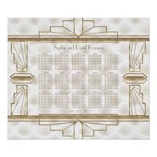 Elegant Gold Great Gatsby Wedding Seating Chart