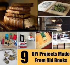 9 DIY Projects Made From Old Books | | Diycozyworld - Home Improvement and  Garden Tips