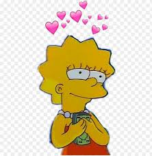 aesthetic lisa simpson png image with