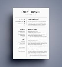 Microsoft Word Template Resume New Resume Template CV Template For MS Word BEST Selling Etsy