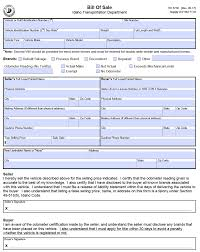 Legal Bill Of Sale Free Idaho DMV Motor Vehicle / Boat Bill of Sale – Form ITD 3738 ...