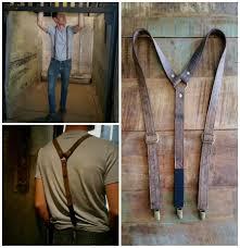 brown mocha leather suspender 3rd anniversary gift for man third anniversary gift for man groomsmen suspender 3rd wedding anniversary