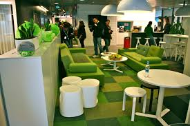 great office spaces. angry birds office great idea for chill out area love the grass spaces o