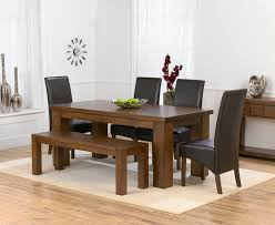 awesome dark wood dining table dark wood dining room set with bench barclaydouglas
