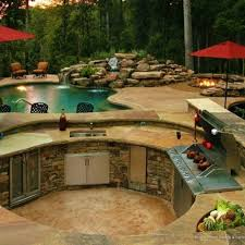 Backyard Designs With Pool And Outdoor Kitchen Inspiration Amazing Outdoor Kitchens In 48 Home Sweet Home Pinterest