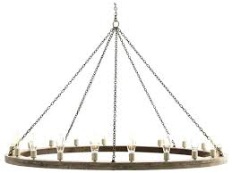 arteriors home chandelier gray wood with rustic iron lights wide grand rittenhouse 6 light