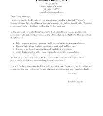 Graduate Cover Letter Examples Nursing Graduate Cover Letter Example Sample Nurses Resume With
