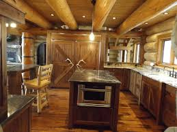 Black Walnut Kitchen Cabinets Custom Log Cabin Kitchen And Bath