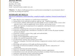 Cosmetologist Resume Examples Job And Template Picture Resume