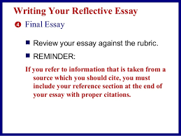 reflective essay in an online class 18 writing your reflective essay